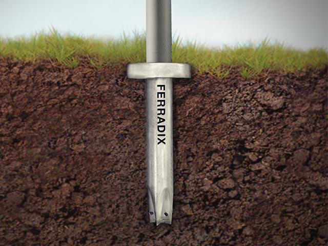Bodendübel, Bondenanker, Erdpfosten, Erdverankerung, Bodenanker ohne Beton, Bodenfundament